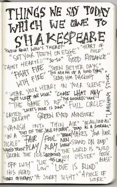 Shakespeare; one my favorite units to teach :)