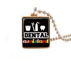 Dental assistant...Scrabble Tile Necklace