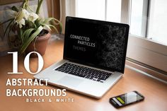 Abstract B&W backgrounds for design by julvil on Creative Market