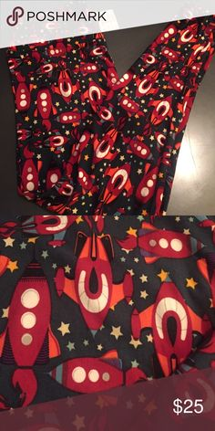 LuLaRoe leggings Rockets !! 🚀 New with tags! Best purchase you'll ever make! Non-see through, easy movement! Great feel! Tall and curvy fits size 10-22 LuLaRoe Pants Leggings