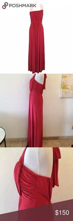 BCBG Paris Gorgeous Burgundy BCBG dress. 96% Polyester; 4% Spandex. Lined with padding in the bust. BCBG Paris Dresses Maxi