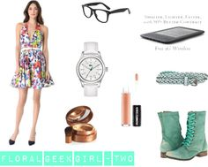 """""""Floral Geek Girl - Two"""" by onlineshoppingusa on Polyvore"""
