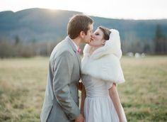 Bridal Mini Cape Faux Fur White Capelet Winter Wonderland- Custom to order. $155.00, via Etsy.