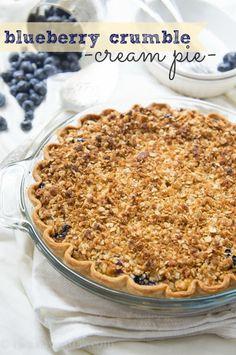 Blueberry Crumble Cream Pie Recipe on Yummly. @yummly #recipe