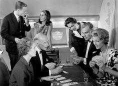 In-flight entertainment, circa 1958.