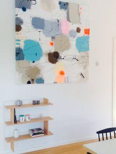 Nyt maleri #art #modernart #maleri #abstrakt #abstraktkunst #kunst #lerfeldtbjerker #bjerker #lovetopaint