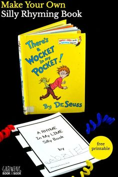 Enjoy There's a Wocket in My Pocket by Dr. Seuss and then create your own silly rhyming book with this free printable.
