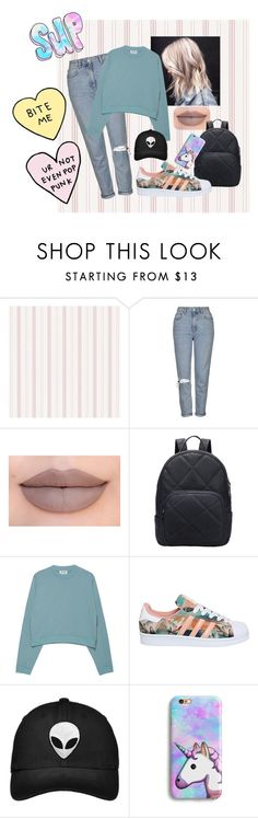 """""""SUP"""" by aliceresident on Polyvore featuring moda, Topshop, Jeffree Star, Acne Studios y adidas"""