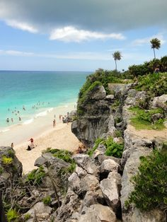 Tulum - The site of a Pre-Columbian Maya walled city along the east coast of the Yucatán Peninsula on the Caribbean Sea in the state of Quintana Roo, Mexico. Just spectacular!