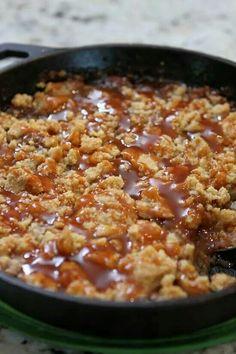 Salted caramel apple crumble. Looks yummy