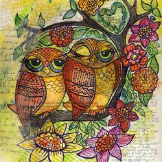 """""""Owl Friends"""" par Kari DelVecchio"""