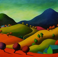 """Here We Are, In The Hills We Are 30"""" x 30"""""""