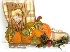 Jenine's Card Ideas Halloween Cards, Fall Halloween, Shaped Cards, Fall Cards, Diy Cards, Reusable Tote Bags, Shapes, Christmas Ornaments, Holiday Decor