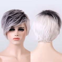 Adiors Ombre Color Short Straight Fluffy Synthetic Wig - COLORMIX