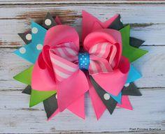 Girls hair bows Boutique hair bows hair bows by PoshPrincessBows1