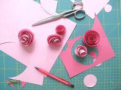 Manualidades de niños para el dia de la madre: Rosa reciclada