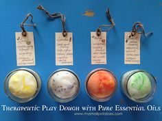 Therapeutic Play Dough with Essential Oils Learn more here too! http://www.got-oils.com/jelaine-aprile/