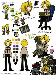 So, this is the Nightguard from FNaF 3 aww look at him hugging his sister (chica)