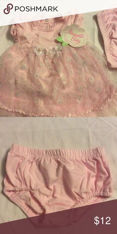 Baby girl 3-6 months baby girl pick and lace dress New baby girl pink and lace dress Nanette Baby Dresses