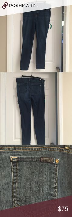 """7 for all man kind """"high waist ankle skinny"""" Great jeans. Just don't fit anymore :( 7 for all Mankind Jeans Skinny"""