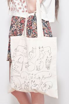Picasso Cats Tote by leahgoren on Etsy, $20.00