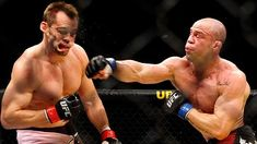 MMA Rorschach: Take a look at this photo and comment with the first thought that comes to mind. | Wanderlei Silva & Rich Franklin #UFC