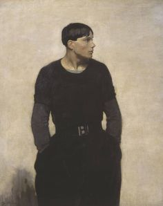 "A YOUNG BRETON (1917) by Glyn Warren Philpot (1864-1937) oil on canvas 50""x41"" Tate Gallery London"