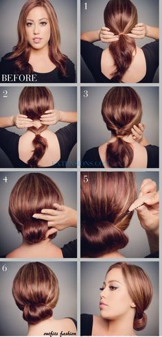 Check out this super easy simple curly updo hairstyle tutorial to look your best on any special day! The post 12 Trendy Low Bun Updo Hairstyles Tutorials: Easy Cute appeared first on Hair Styles. Cute Hairstyles For Medium Hair, Pretty Hairstyles, Medium Hair Styles, Curly Hair Styles, Wedding Hairstyles, Low Bun Hairstyles, How To Updo For Medium Hair, Vintage Hairstyles, Bandana Hairstyles