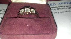1/2 Carat Three Stone Diamond Ring - $650