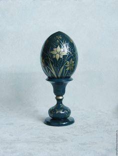 Купить Подарок на Пасху яйцо пасхальное Полевые цветы темно-синий - яйцо пасхальное яйцо Globe, Speech Balloon