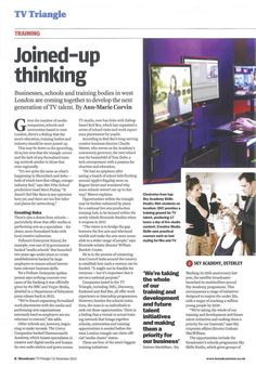 Steve Pinhay, Head of Producing at Met Film School, talks about how London is coming together to develop the next generation of TV talent  in the latest issue of Broadcast magazine.