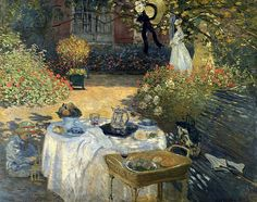"""Absolutely love this style of art--Monet, Van Gogh, etc.!!! This is   """"The Luncheon in the Garden"""" --  Painted steps from Claude Monet's home in Giverny"""