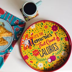 Buy Food For Thought Round Tray Online - Chumbak