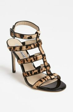 Charles David 'Ina' Sandal Natural/ Black 8M gifters.com black dress shoes for women