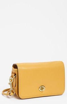 COACH Leather Crossbody Bag. #fashion #women #accessories #bag