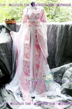 Chinese brocade with satin Hanfu Dress. Lovely, if impractical.