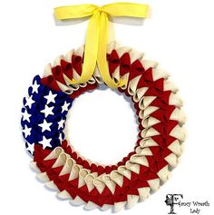 American Flag Wreath Support Our Troops Wreath  Military #Supportourtroops #Flag