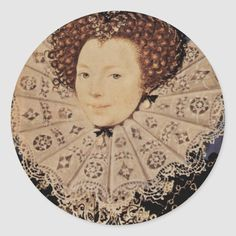 Portrait Of An Unknown Lady Oval By Nicholas Hilliard Portrait Of An Unknown Lady Oval is A Work Of The Famous Artist, Nicholas Hilliard. Drawn around 1585-1590 Using Water Color On Parchment On Cardboard Technique and is located now at Victoria And Albert Museum . Visit Our Store, Zazzle.Com/Artcollection For More Lotto Lorenzo Art Masterpieces. 1500s Fashion, Saint Yves, Tudor Era, Blackwork Embroidery, Victoria And Albert Museum, Fantasy Books, Famous Artists, Round Stickers, European Fashion
