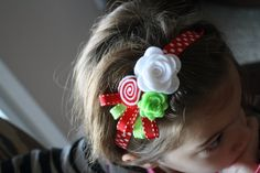 Christmas Headband Baby Girl Felt Flower Hairband by ClairesFlair