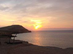 Que atardecer mas bonito, no se el lugar, alguna playa en Colombia #SomosTurismo