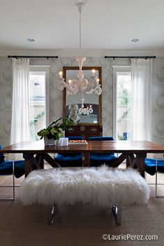 Stunning, glam dining room