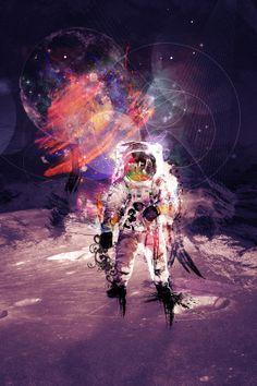 outer space by Kacper Kiec, via Behance