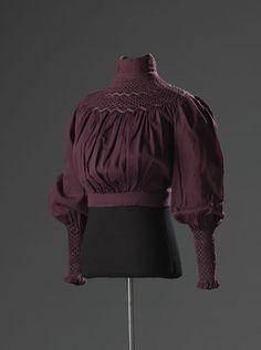 A gorgeous plum shirtwaist from the early Edwardian era!