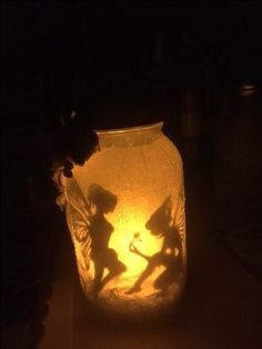 Magical fairy world inside a mason jar! Eileenhull.com