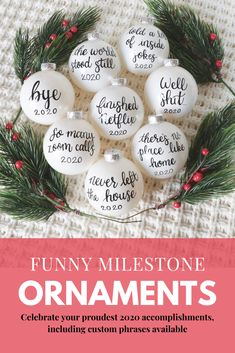 Funny Christmas Decorations, Great Christmas Gifts, Christmas Humor, Holiday Gifts, Christmas Stuff, Christmas Time, Christmas Ideas, White Ornaments, Ornaments Ideas