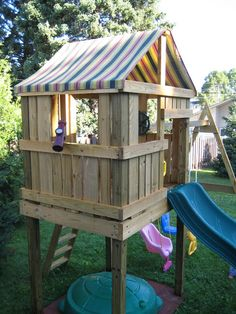 DIY Backyard Swingset