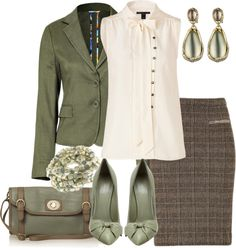 A fashion look from February 2013 featuring Marc by Marc Jacobs blouses, Etro blazers and Etro skirts. Browse and shop related looks. Business Outfits, Office Outfits, Business Fashion, Office Wear, Plaid Pencil Skirt, Pencil Skirt Outfits, Pencil Skirts, Church Fashion, Office Fashion
