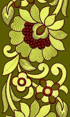 Rose Lace Saree Embroidery Design 16838