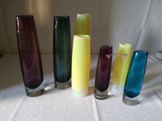 Flower glasses (vases) by Arthur Percy, Gullaskrufs glass mill
