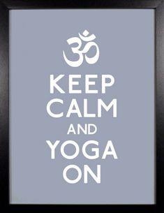 "I make sure that yoga is an important part of my weekly routine. Give it a try -""Keep Calm & Yoga On. Yoga Kundalini, Ashtanga Yoga, Yoga Meditation, Vinyasa Yoga, Chakras, Namaste, Yoga Sport, Yoga Training, Yoga Workshop"